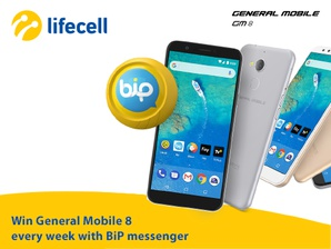 General Mobile 8 phone every week with the BiP messenger