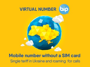 Virtual number BiP<br>works without SIM card